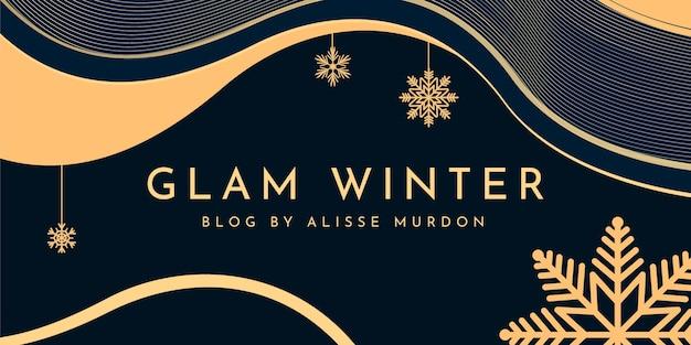 抽象的なエレガントな冬のブログのヘッダー 無料ベクター
