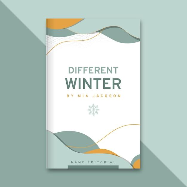 추상 우아한 겨울 책 표지 무료 벡터