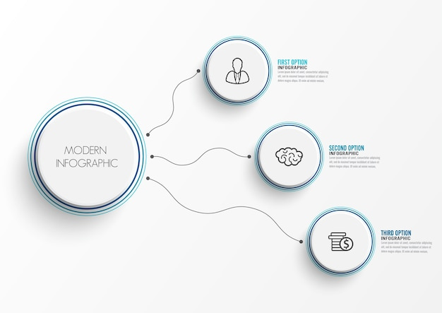 Abstract elements of graph infographic template Premium Vector