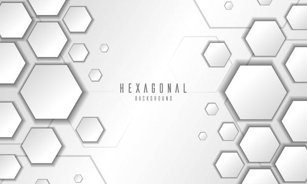 Абстрактный тиснением гексагональной белом фоне Premium векторы