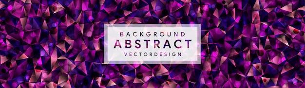 Abstract eometric polygonal background Premium Vector