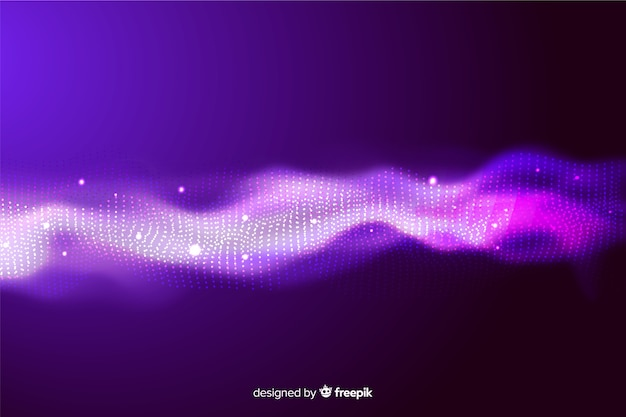 Abstract equalizer particles wave wallpaper Free Vector