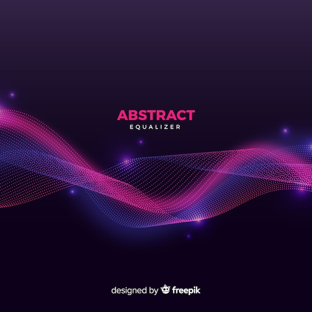 Abstract equalizer particles waves background Free Vector