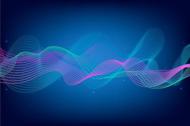 Абстрактная заставка эквалайзера Бесплатные векторы