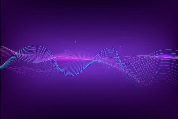 Абстрактные эквалайзер волны обои Бесплатные векторы