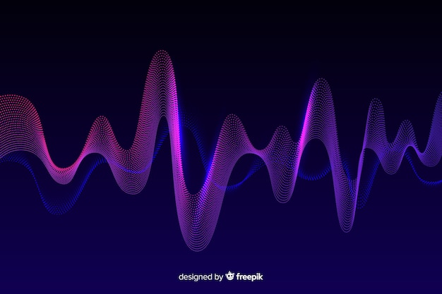 Abstract equalizer waves background Free Vector