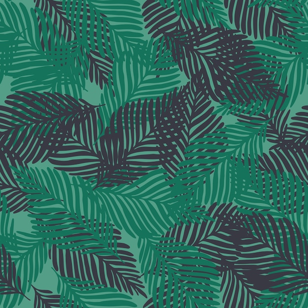 Abstract exotic tropical plant seamless pattern Premium Vector