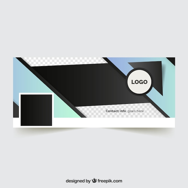 abstract facebook cover for company