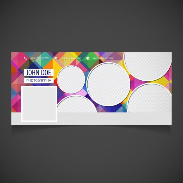 Abstract facebook cover with circles Free Vector