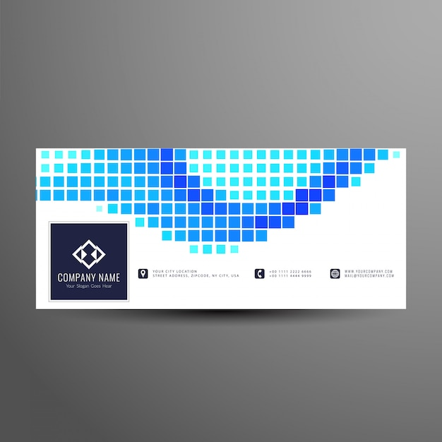 Abstract facebook timeline banner template Free Vector