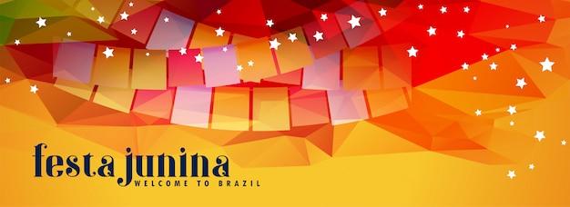 Abstract festival festa junina banner Free Vector