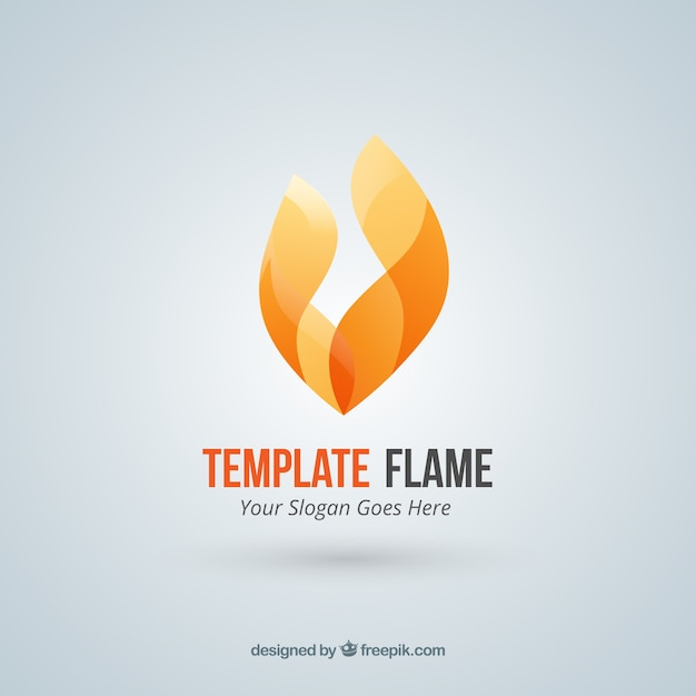 Abstract fire flame logo Vector | Free Download
