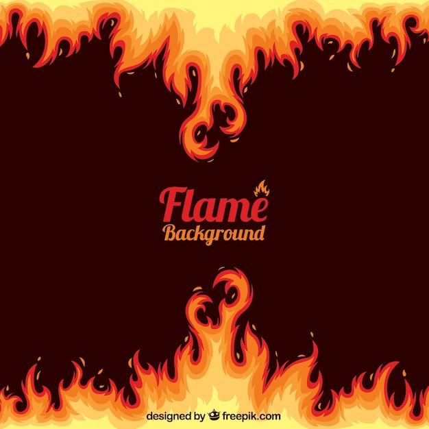 Abstract flame background Premium Vector