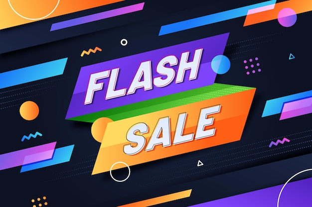 Abstract flash sale background Free Vector