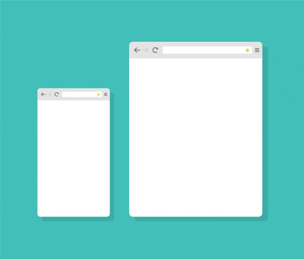 Abstract Flat Design Internet Browser Template Vector Premium Download