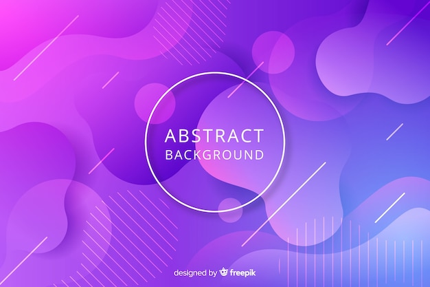 Abstract flat rounded shape background Free Vector
