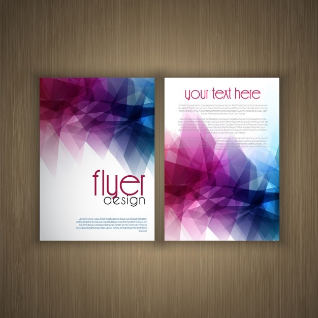 abstract flier design vector free download