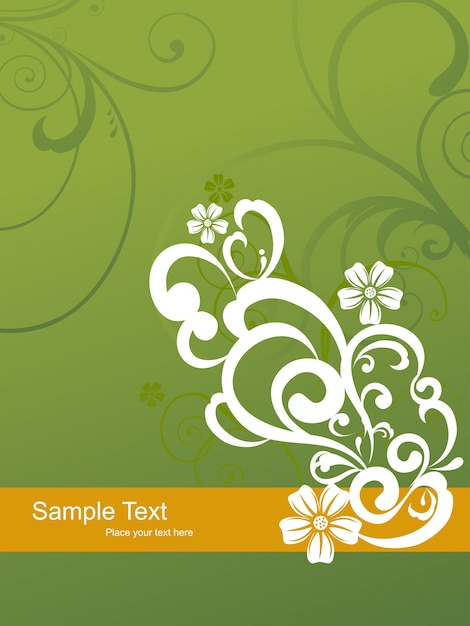 Abstract floral art Free Vector