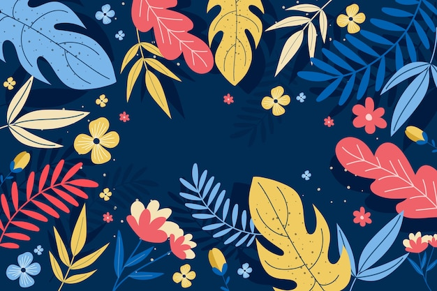 Abstract floral background in flat design Free Vector
