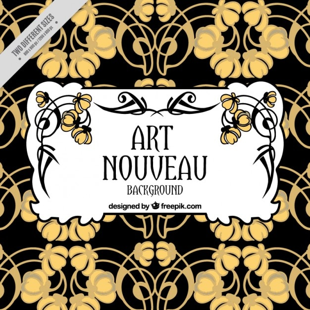 abstract floral background in art nouveau style vector free download