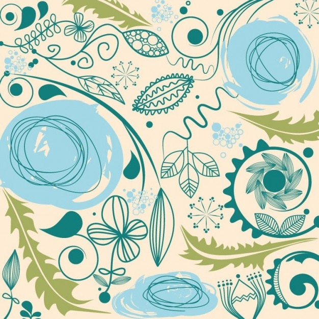 abstract floral background vector art Free Vector
