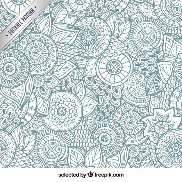 Abstract floral background Free Vector