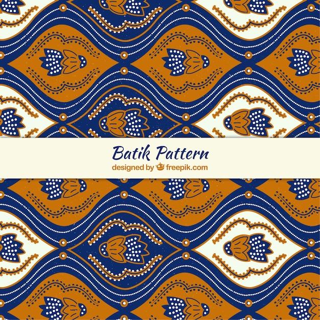Abstract Floral Batik Pattern Vector