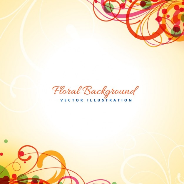abstract floral design vector free download