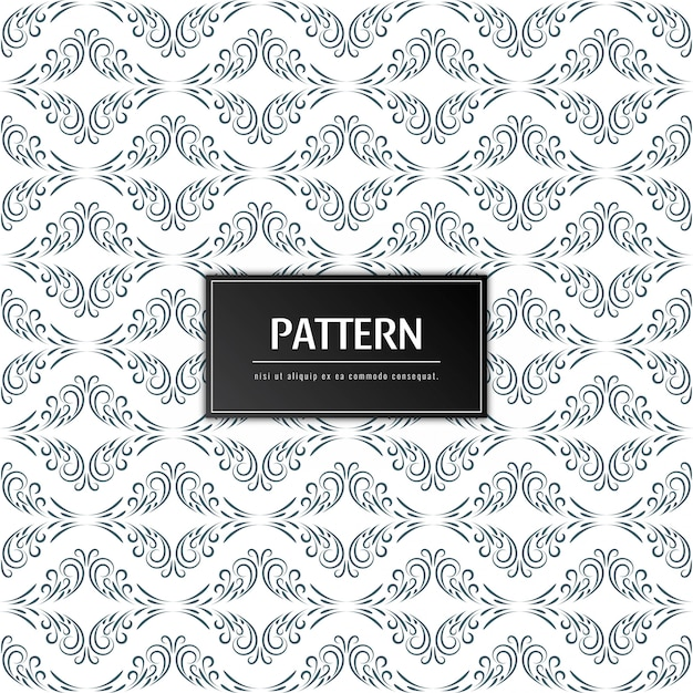 Abstract floral pattern elegant background Free Vector