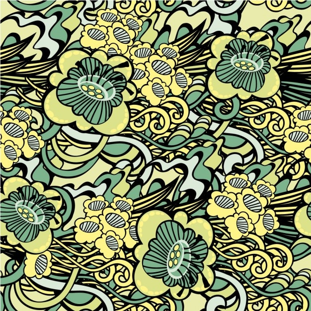 Abstract Floral Pattern Vector Free Download