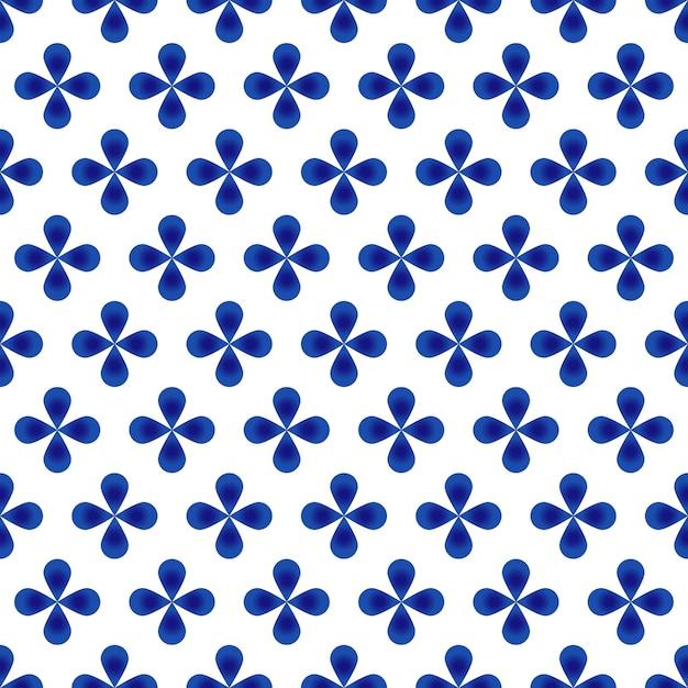Abstract flower blue pattern Premium Vector