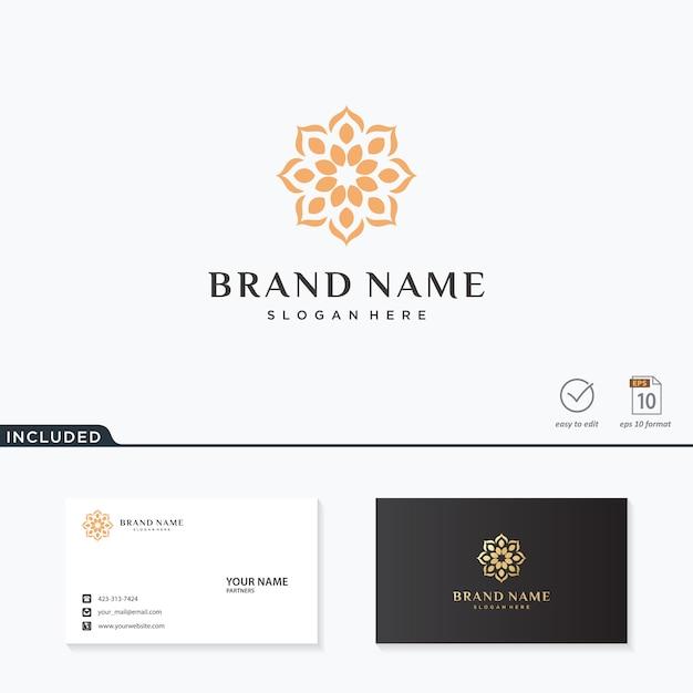 Абстрактный цветок дизайн логотипа вдохновения Premium векторы