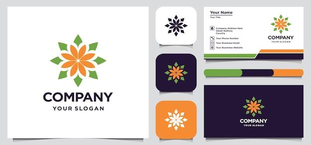 抽象的な花のロゴのデザイン Premiumベクター