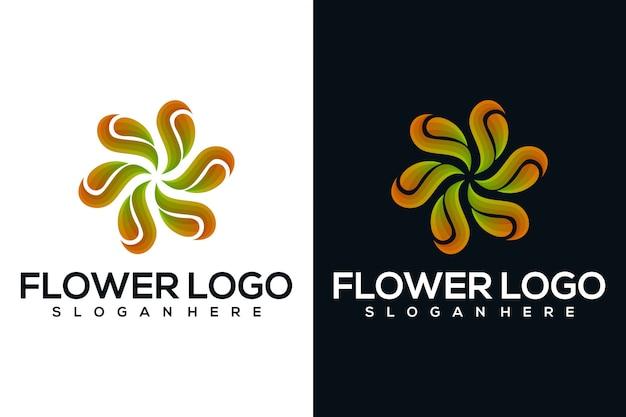 抽象的な花のロゴ Premiumベクター