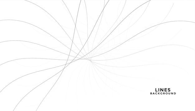 Linee nere fluenti astratte su priorità bassa bianca Vettore gratuito