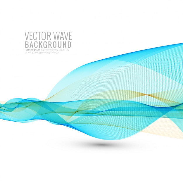 Abstract flowing business wave on white background Free Vector