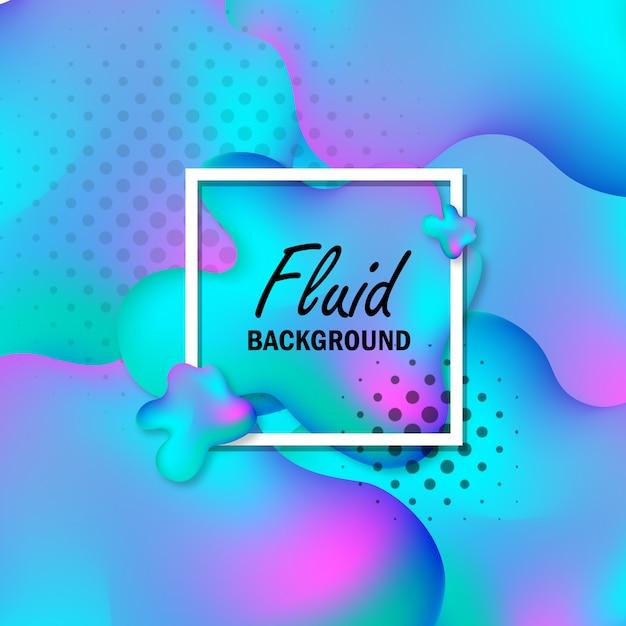 Abstract fluid background Premium Vector
