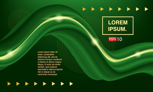 Abstract fluid. banner green fluid. color covers set Premium Vector