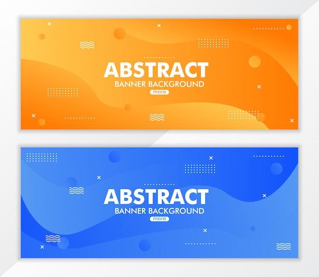 Abstract fluid gradient banner background Premium Vector