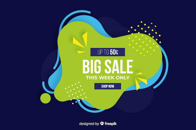 Abstract fluid shape sales background Free Vector