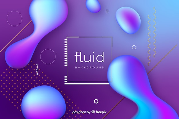 Abstract fluid shapes background Free Vector