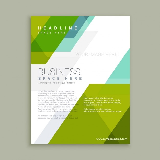 Abstract flyer in flat design vector free download for Free poster design templates