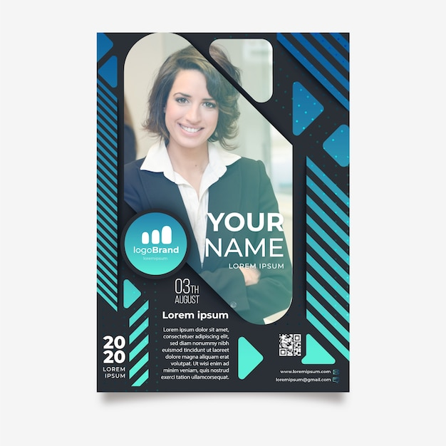 Abstract flyer template for business Free Vector