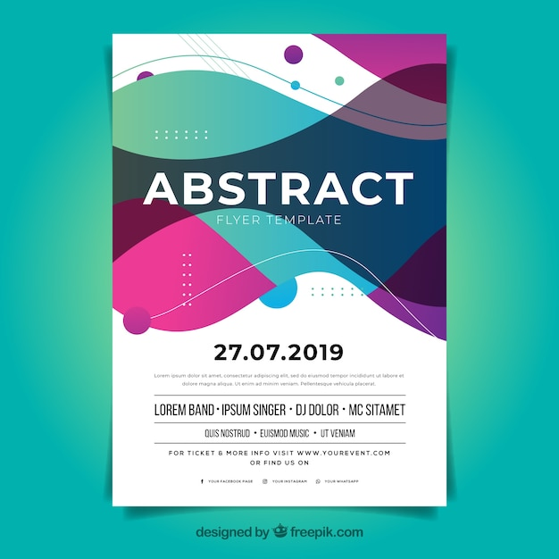 Abstract Flyer Template With Flat Design Vector Free Download