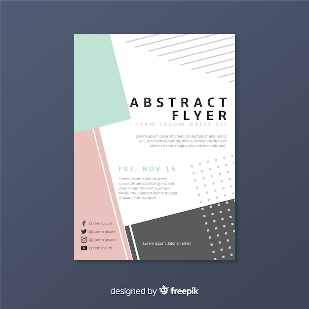 Abstract flyer template Free Vector