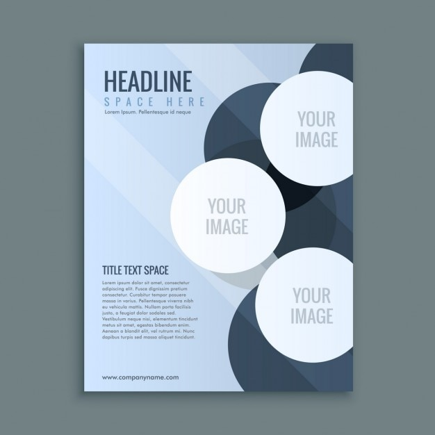 Abstract flyer with several circles