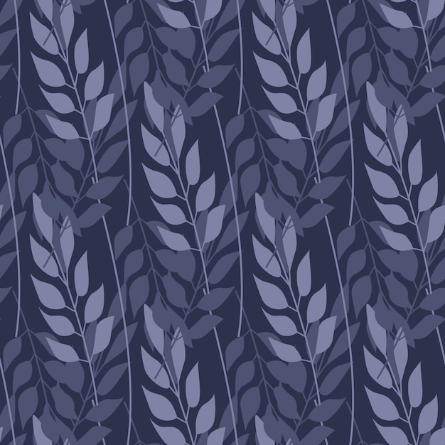 Abstract forest grass and branch seamless pattern Premium Vector