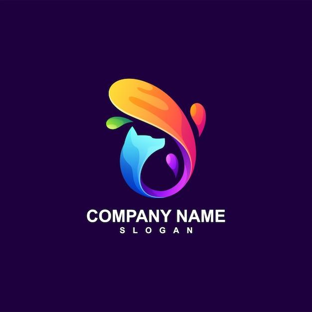 Абстрактный дизайн логотипа лиса Premium векторы