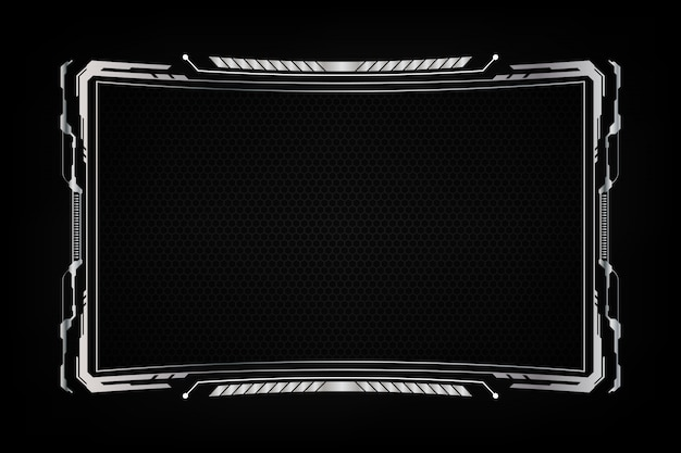 Abstract frame background futuristic screen system virtual design. Premium Vector