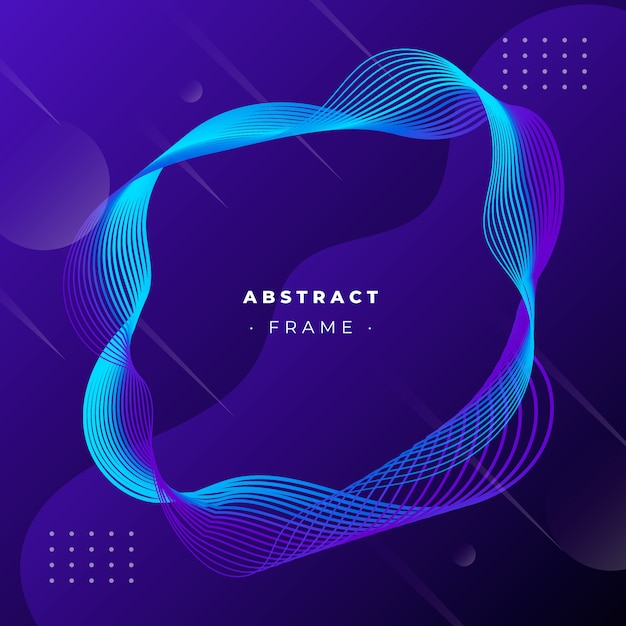 Abstract frame with dynamic lines Free Vector